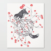 Blossom Fox Canvas Print