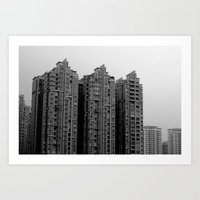 Concrete Blocks Art Print