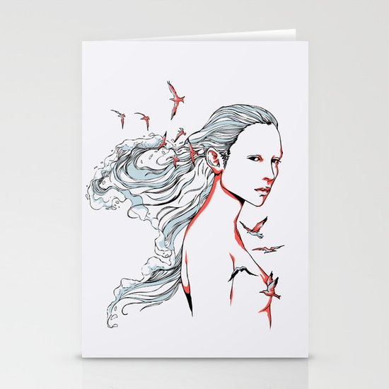 Queen of Ocean Stationery Card
