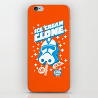 iPhone & iPod Skin featuring Ice Cream Clone by Gimetzco's Damaged G…