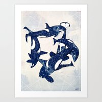 Orcas Art Print
