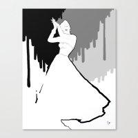 'Back To Black' Fashion … Canvas Print