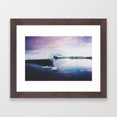 glacial lagoon Framed Art Print