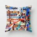 Gwenola (stripes 24) Throw Pillow