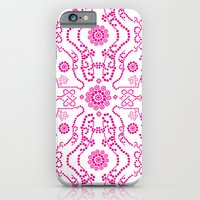 iPhone & iPod Case featuring Hot Pink Lace by All Is One