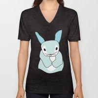 Blue Bunny Rabbit Unisex V-Neck