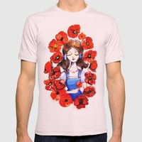 Poppies Will Put Her To … Mens Fitted Tee Light Pink SMALL