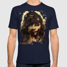 Female Zombie Mens Fitted Tee Navy SMALL