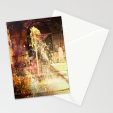 Fountains of Sparkling Champagne. Stationery Cards
