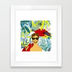 Let's be adventurers Framed Art Print
