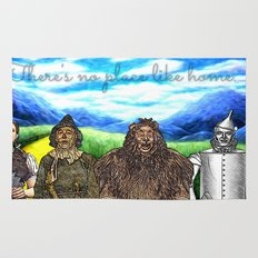 No Place Like Home Wizard Oz Art Rug