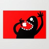 apple eater Canvas Print