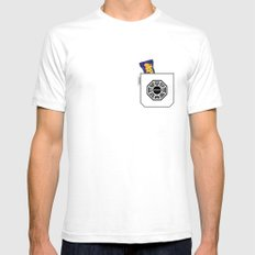 Pockets - Hurley - SMALL White Mens Fitted Tee