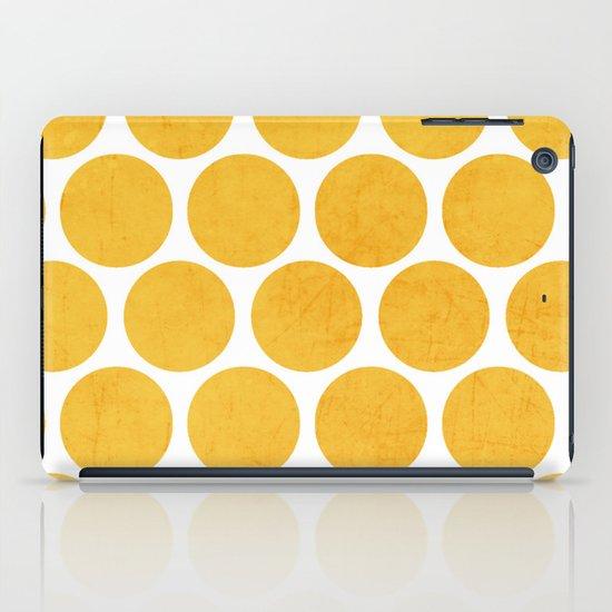 yellow polka dots iPad Case