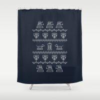Timey Wimey Christmas Shower Curtain
