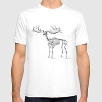 Dead Moose Mens Fitted Tee White SMALL
