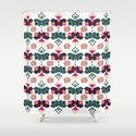 Bulgarian embroidery pattern 02 Shower Curtain