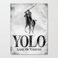 Yolo Polo - Game Of Thro… Canvas Print