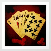 Escalera Real de Trebol (Dirty Poker) Art Print