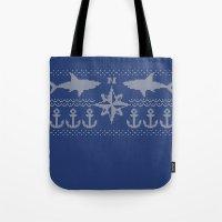 Nerdic (marine Pattern) Tote Bag