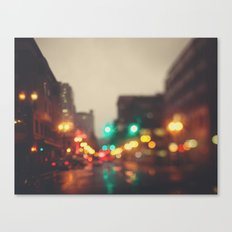 Portland In The Rain Canvas Print