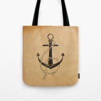 Anchor Print Tote Bag