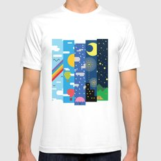 Skies Mens Fitted Tee White SMALL