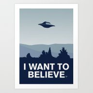 My X-files: I Want To Be… Art Print
