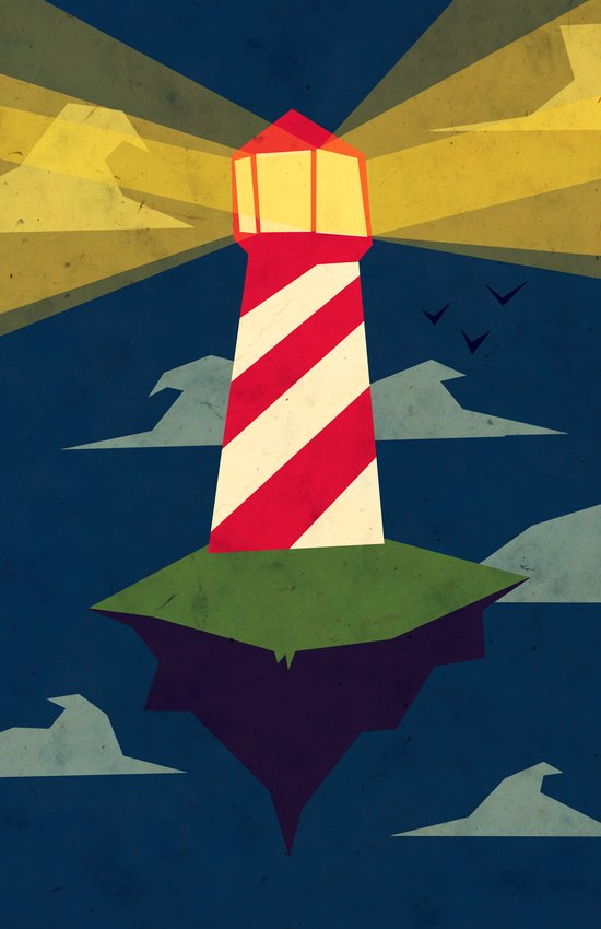 A Light house Art Print