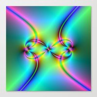 Neon Love Knots Canvas Print