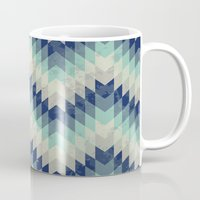 Chevron pattern_Blue Mug