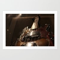 Used Guitar Art Print