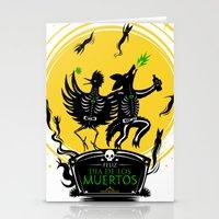 Dia de los Muertos Roadrunner and Coyote Stationery Cards