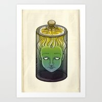 Sophronia , the talking head Art Print