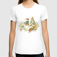 Critters: Summer Gardening Womens Fitted Tee White SMALL