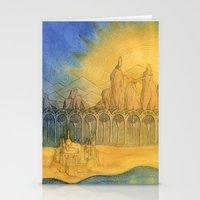 Sand Castle Stationery Cards