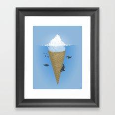 Hidden part of icebergs Framed Art Print