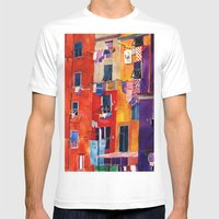 Portovenere Mens Fitted Tee White SMALL