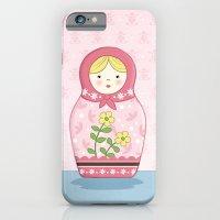 iPhone & iPod Case featuring Matryoshka Doll (pink) by Amanda Francey
