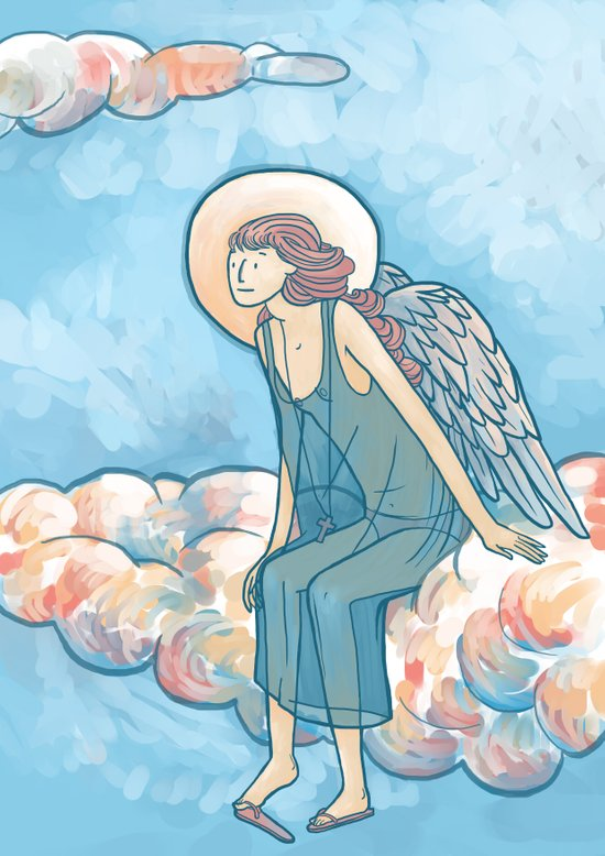 Angel on a Cloud Art Print