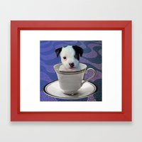 Pup in a Cup Framed Art Print