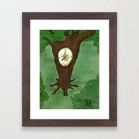 Tick Tock goes the tree Framed Art Print