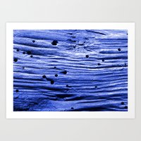 Blue Wood Art Print