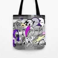 Black White Commotion Tote Bag