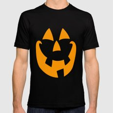 Pumpkin Face SMALL Black Mens Fitted Tee