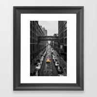 Iconic New York Cab Framed Art Print