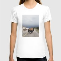clouds T-shirts featuring Street Walker by Kevin Russ