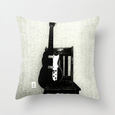 This Chair and Guitar Weren't Always So Lonely Throw Pillow