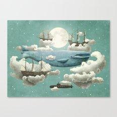 Ocean Meets Sky - mint option Canvas Print