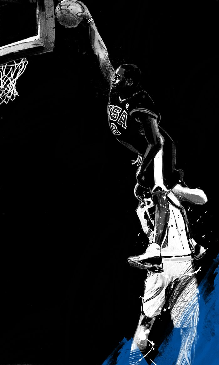 Vince Carter Olympic Dunk Art Print by Jtabije | Society6Drawings Of Vince Carter